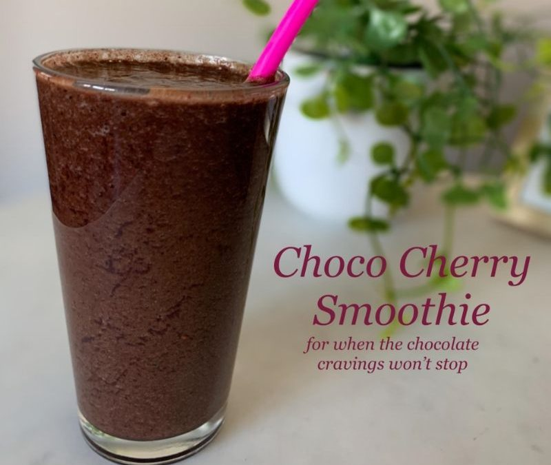 Choco Cherry Smoothie: For When The Chocolate Cravings Just Won't Stop