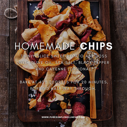 Reset for Spring & Homemade Vegetable Chips