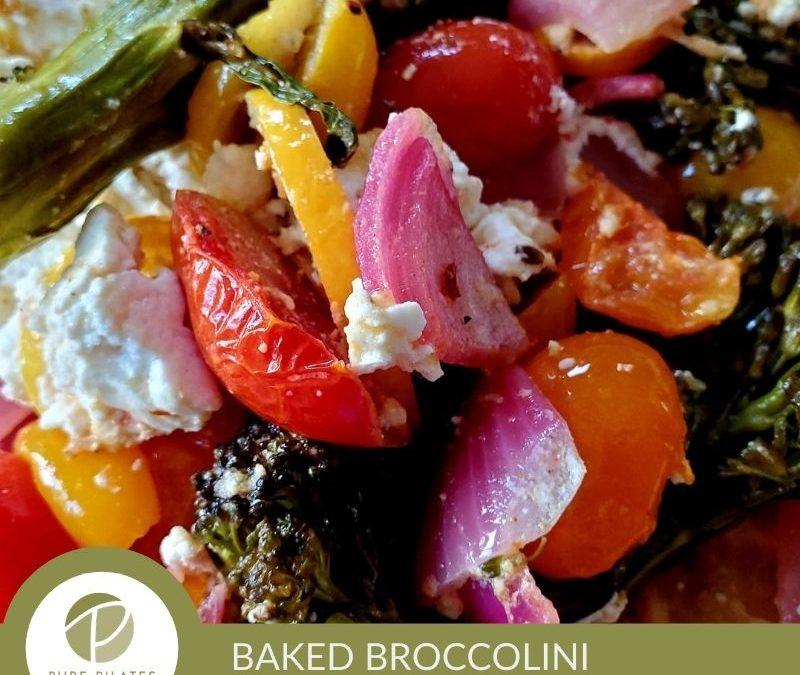 Sheet Pan Baked Feta with Broccolini, Tomatoes and Lemon