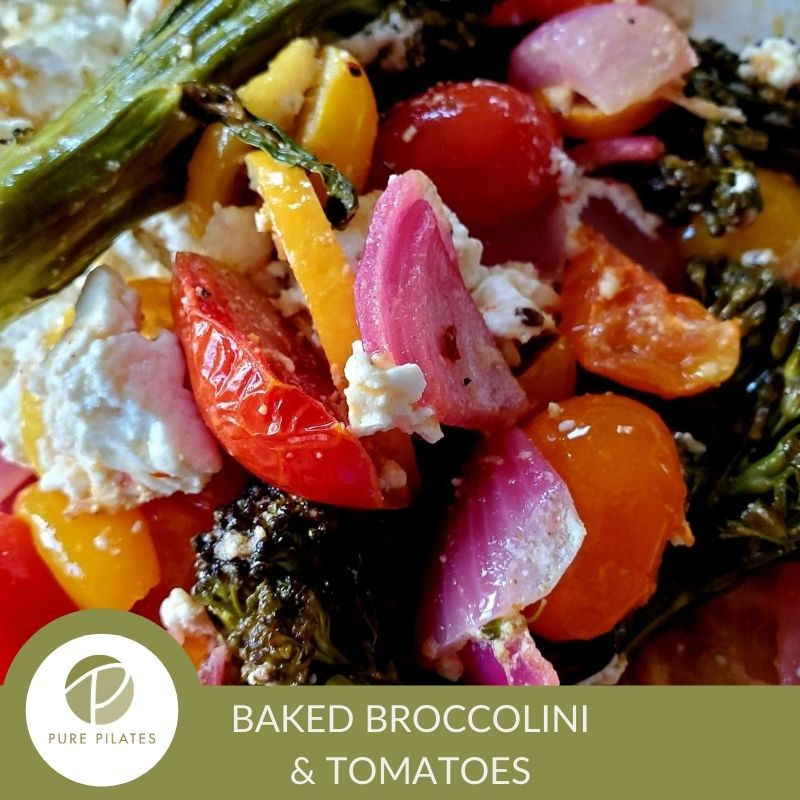 Sheet Pan Baked Feta with Broccolini, Tomatoes and Lemon