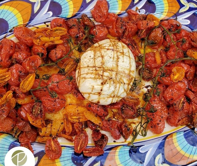 Buffalo Mozzarella with Neat and Messy Roasted Tomatoes Recipe
