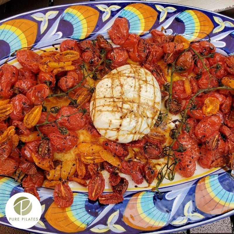 Buffalo Mozzarella with Neat and Messy Roasted Tomatoes Recipe