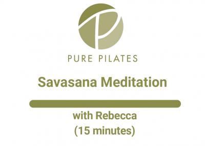 Savasana Meditation With Rebecca 15 Minutes