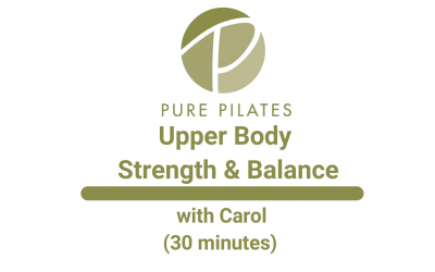 Upper Body Strength and Balance With Carol 30 Minutes