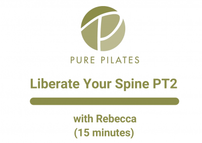 Liberate Your Spine Part 2 With Rebecca 15 Minutes