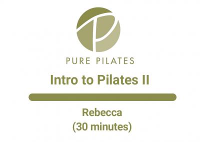 Intro to Pilates II With Rebecca 30 Min