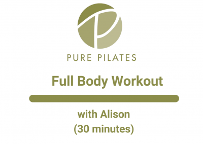 30 Min Full Body Workout With Alison 30 Minute