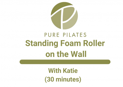 Standing Foam Roller on the Wall With Katie 30 Minutes