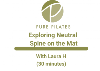 Exploring Neutral Spine on the Mat With Laura H 30 Minute