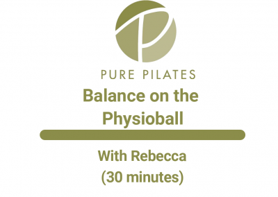 Balance on the Physioball With Rebecca 30 Minute