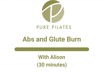 Abs and Glute Burn With Alison 30 Minutes